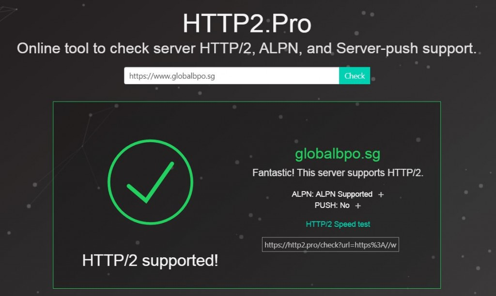 globalbpo webserver now supports http2