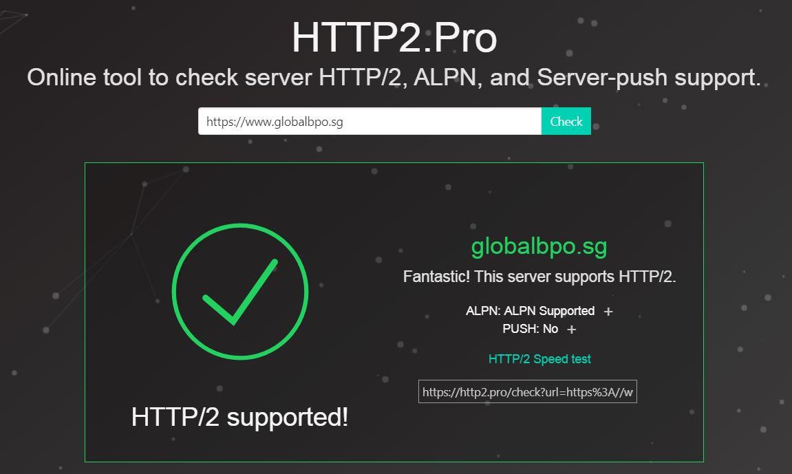 globalbpo webserver now supports http2